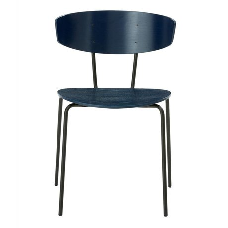 Ferm Living Dining chair Herman dark blue 50x74x47cm Wood Metal