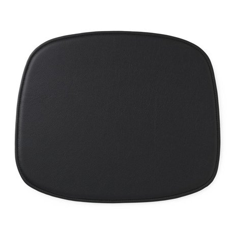 Normann Copenhagen Forma Cuscino di seduta in pelle nera 46x39x1cm