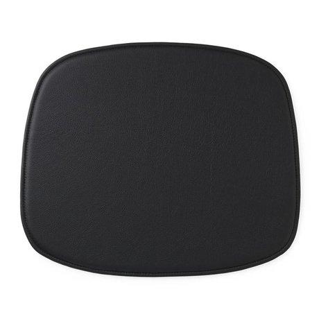 Normann Copenhagen forme coussin de siège en cuir noir 46x39x1cm