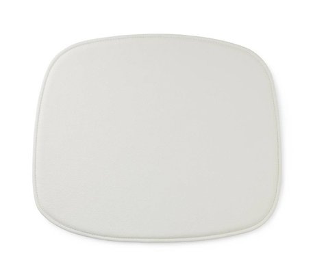 Normann Copenhagen Seat cushion shape white leather 46x39x1cm