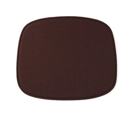 Normann Copenhagen formulario de asiento rojo textil 46x39x1cm