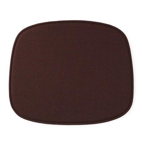 Normann Copenhagen forma del sedile rosso tessile 46x39x1cm