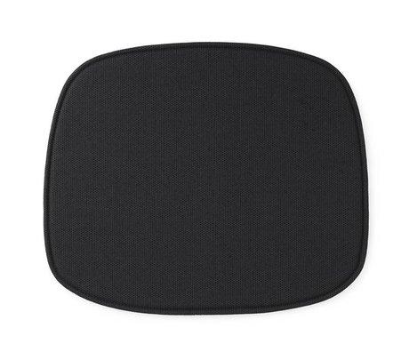 Normann Copenhagen Seat cushion shape black textile 46x39x1cm