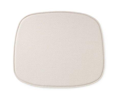 Normann Copenhagen Cojín de asiento forma 46x39x1cm textil blanco