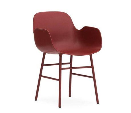 Normann Copenhagen Fauteuil forme acier 56x52x80cm plastique rouge