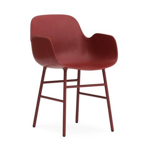 Normann Copenhagen Lehnstuhl Form rot Kunststoff-Stahl 56x52x80cm