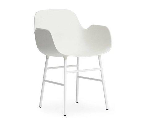 Normann Copenhagen Fauteuil forme acier 56x52x80cm blanc en plastique