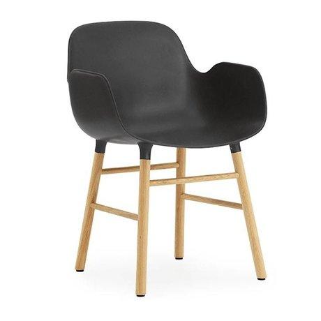 Normann Copenhagen Lehnstuhl Form schwarz braun Kunststoff holz 56x52x80cm