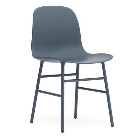Normann Copenhagen Stuhl Form blau Kunststoff Stahl 48x52x80cm