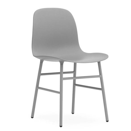 Normann Copenhagen Chair shape gray plastic steel 48x52x80cm