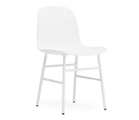 Normann Copenhagen Chair shape white plastic steel 48x52x80cm