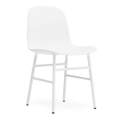 Normann Copenhagen sous forme de chaise en acier plastique blanc 48x52x80cm