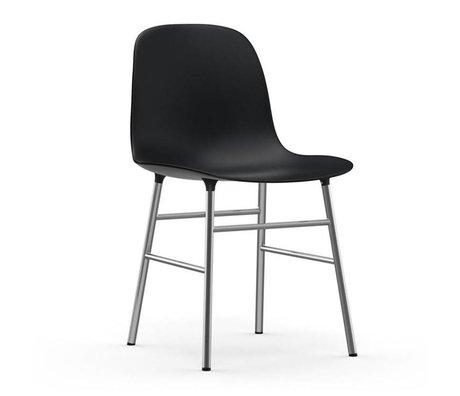 Normann Copenhagen sotto forma Cattedra di plastica nera cromata 48x52x80cm