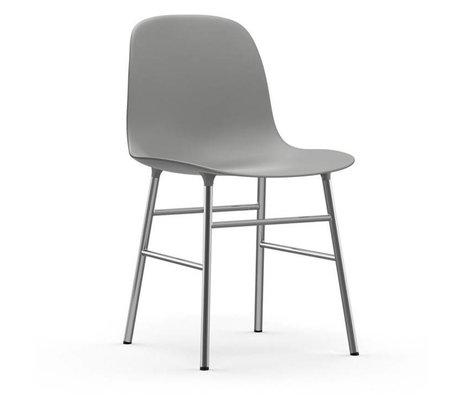 Normann Copenhagen Stuhl Form grau Kunststoff Chrom 48x52x80cm