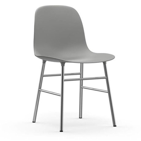 Normann Copenhagen Chair shape gray plastic chrome 48x52x80cm