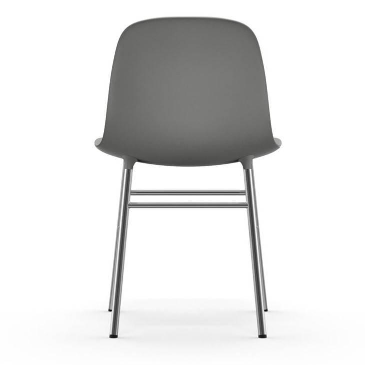 Normann Copenhagen modulo di sedia di plastica grigio cromato ...