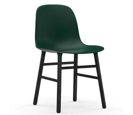 Normann Copenhagen forme de chaise de bois vert en plastique noir de 48x52x80cm