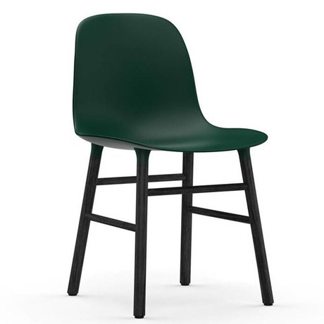 Normann Copenhagen Chair shape green black plastic wood 48x52x80cm