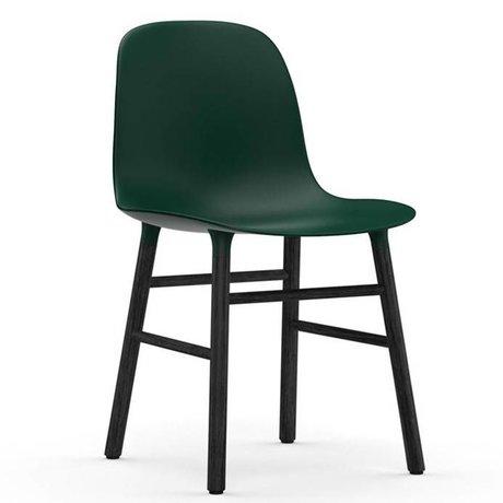 Normann Copenhagen Stuhl Form grün schwarz Kunststoff holz 48x52x80cm
