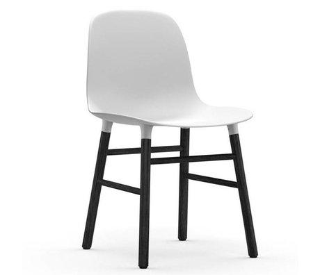 Normann Copenhagen sous forme de chaise 48x52x80cm blanc bois en plastique noir