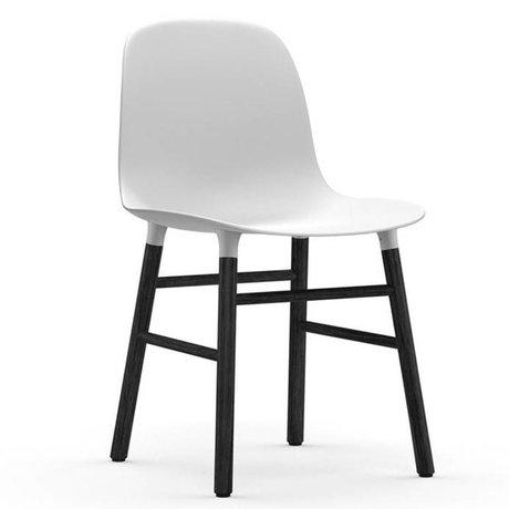Normann Copenhagen Chair shape white black plastic wood 48x52x80cm
