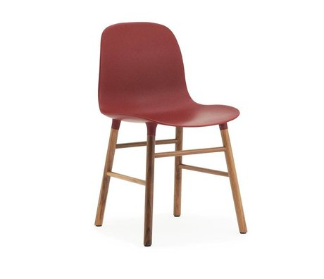 Normann Copenhagen Stuhl Form rot braun Kunststoff holz 48x52x80cm