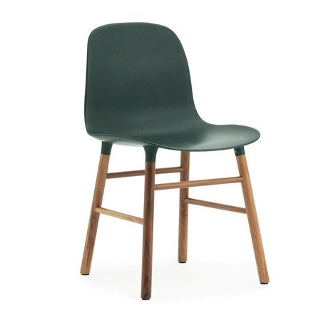 Normann Copenhagen Chair shape green brown plastic wood 48x52x80cm