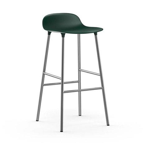 Normann Copenhagen Afføringsform grøn chrom plast 53x45x87cm