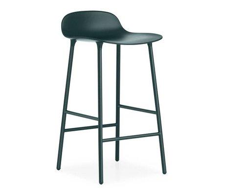 Normann Copenhagen Bar chair shape green plastic steel 42,5x42,5x77cm