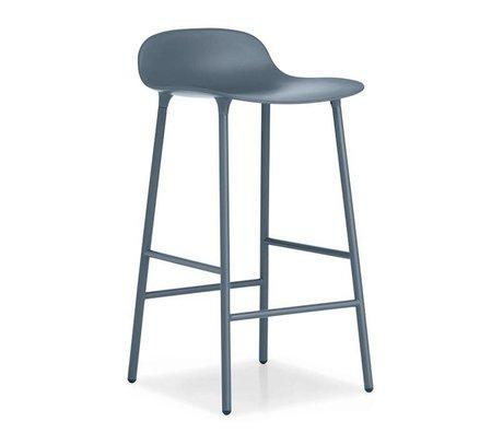 Normann Copenhagen Bar chair shape blue plastic steel 42,5x42,5x77cm