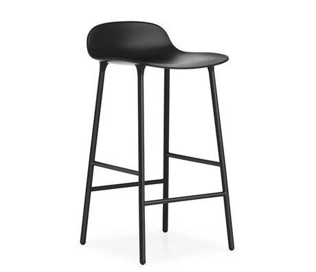 Normann Copenhagen Bar chair shape black plastic steel 42,5x42,5x77cm