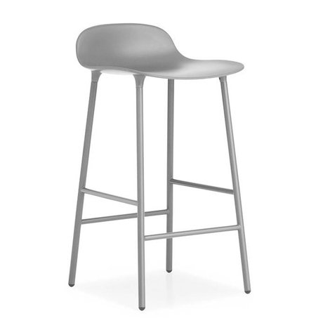 Normann Copenhagen Barstuhl Form grau Kunststoff Stahl 42,5x42,5x77cm
