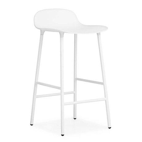 Normann Copenhagen Bar chair shape white plastic steel 42,5x42,5x77cm