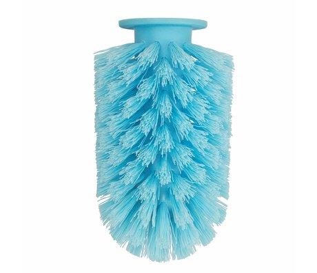 Normann Copenhagen Brush head Ballo blue plastic Ø7,5x12,5cm