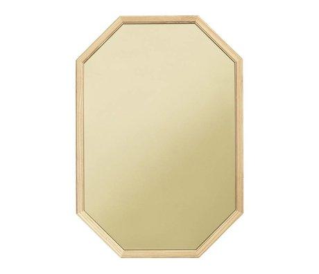 Normann Copenhagen espejo de pared como espejo de cristal verde de madera L 55x2,5x80cm