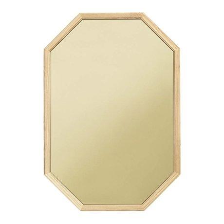 Normann Copenhagen Væg spejl ligesom grønt glas spejl træ L 55x2,5x80cm