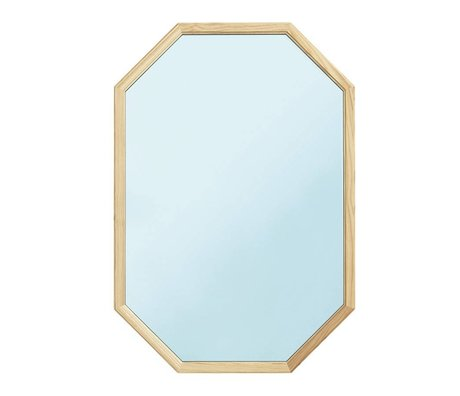 Normann Copenhagen Wall mirror Lust blue Glass mirror wood L 55x2,5x80cm