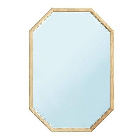 Normann Copenhagen espejo de pared de cristal azul como la madera espejo L 55x2,5x80cm