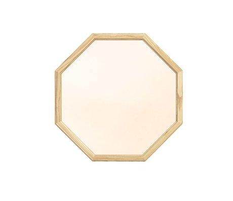 Normann Copenhagen Specchio a parete come il legno specchio di vetro d'oro M 50x2,5x50cm