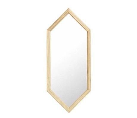 Normann Copenhagen Wall mirror Lust silver Glass mirror wood S 29x2,5x70cm