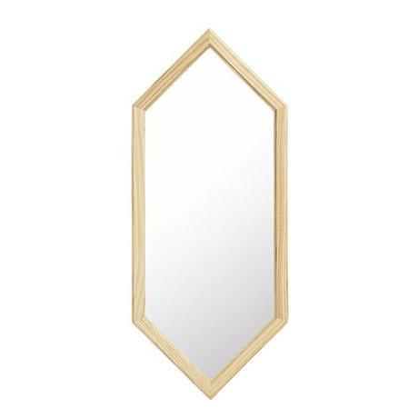 Normann Copenhagen espejo de pared como espejo de cristal de plata de madera S 29x2,5x70cm