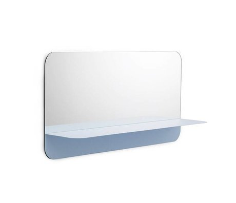 Normann Copenhagen Specchi Horizon luce blu piastra 80x40cm vetro acciaio