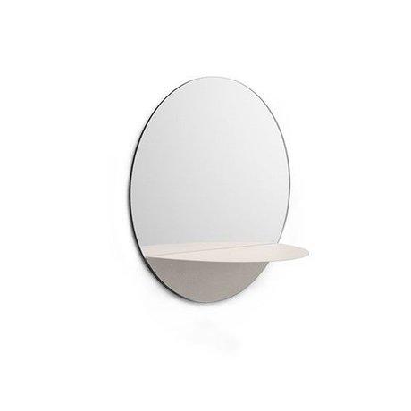 Normann Copenhagen Wall mirror Horizon round white Mirror glass steel Ø34cm
