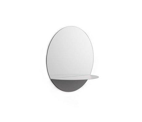 Normann Copenhagen Wall mirror Horizon round gray Mirror glass steel Ø34cm