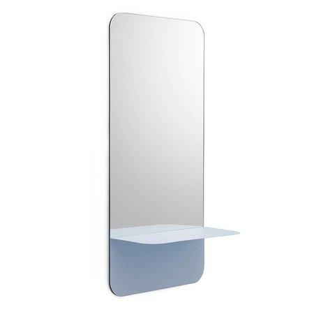 Normann Copenhagen Wall mirror Horizon vertical light blue Mirror glass steel 40x80cm