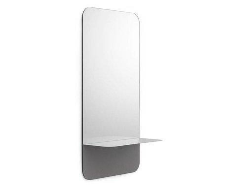 Normann Copenhagen Wandspiegel Horizon vertikal grau Spiegelglas Stahl 40x80cm