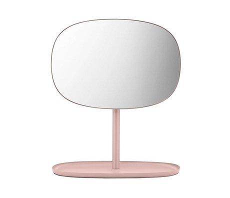 Normann Copenhagen Spiegel Flip rosa Glasspiegel Stahl 28x19,5x34,5cm