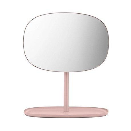 Normann Copenhagen Miroirs chiquenaude acier miroir en verre rose 28x19,5x34,5cm