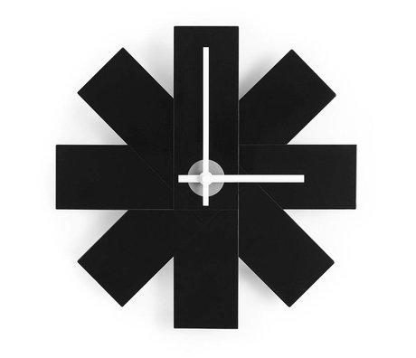 Normann Copenhagen Orologio da parete Guarda me Ø28,5cm alluminio nero