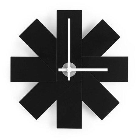 Normann Copenhagen Wall Clock Watch me black aluminum Ø28,5cm